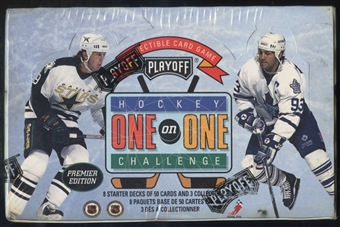 1995/96 Playoff One on One Hockey Starter Box