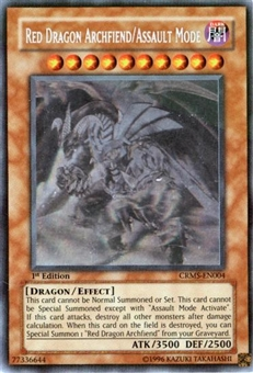 Yu-Gi-Oh Crimson Crisis Single Red Dragon Archfiend/ Assault Mode Ghost Rare