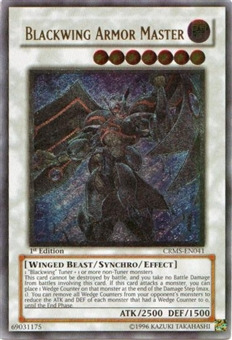 Yu-Gi-Oh Crimson Crisis Single Blackwing Armor Master Ultimate Rare - NEAR MINT (NM)