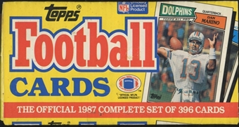 1987 Topps Football Factory Set (Christmas Box)