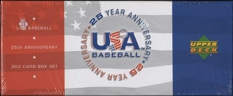 2004 Upper Deck USA Baseball 25th Anniversary Factory Set (Box) (R.A. Dickey Autos)