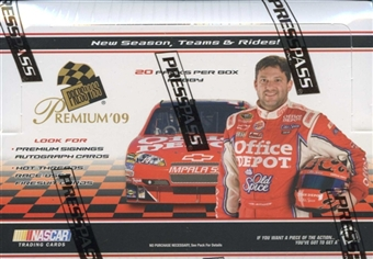 2009 Press Pass Premium Racing Hobby Box