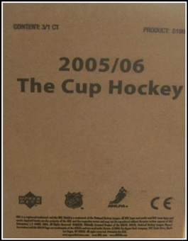 2005/06 Upper Deck The Cup (Exquisite) Hockey Hobby 3-Box (Tin) Case