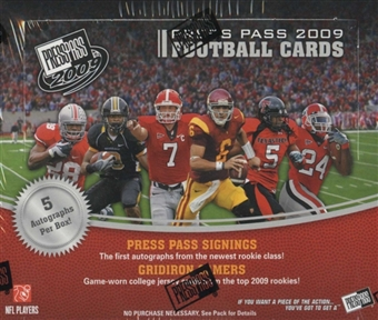 2009 Press Pass Football Hobby Box