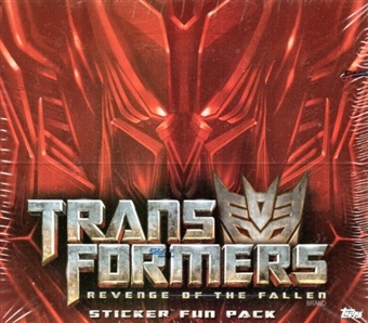 Transformers Revenge of the Fallen Sticker Box (2009 Topps)