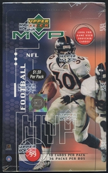 1999 Upper Deck MVP Football Prepriced Box
