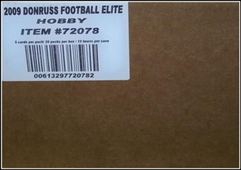 2009 Donruss Elite Football Hobby 12-Box Case