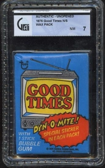 1975 Topps Good Times Wax Pack GAI 7 (NM)