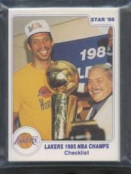 1985/86 Star Co. Basketball Lakers Champs Bagged Set