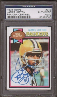 1979 Topps James Lofton #310 RC Autographed Card PSA Slabbed (5000)