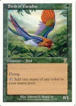 Magic the Gathering 7th Edition Single Birds of Paradise - NEAR MINT (NM)