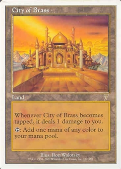 Magic the Gathering 7th Edition Single City of Brass UNPLAYED (NM/MT)