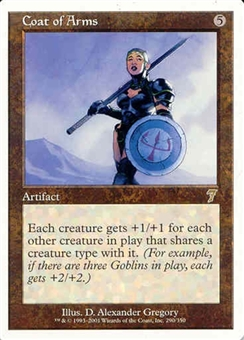 Magic the Gathering 7th Edition Single Coat of Arms UNPLAYED (NM/MT)