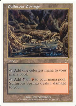 Magic the Gathering 7th Edition Single Sulfurous Springs - NEAR MINT (NM)