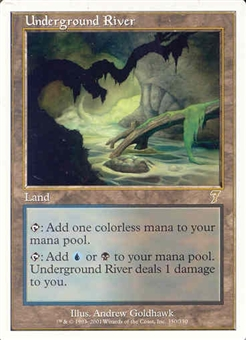 Magic the Gathering 7th Edition Single Underground River UNPLAYED (NM/MT)