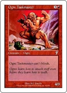 Magic the Gathering 7th Edition Single Ogre Taskmaster Foil