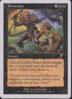 Magic the Gathering 7th Edition Single Persecute Foil