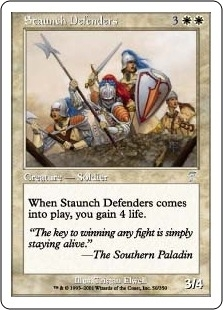 Magic the Gathering 7th Edition Single Staunch Defender's FOIL