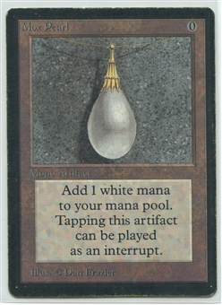 Magic the Gathering Beta Single Mox Pearl - MODERATE PLAY - (MP)