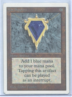 Magic the Gathering Unlimited Single Mox Sapphire - NEAR MINT / SLIGHT PLAY (NM/SP)