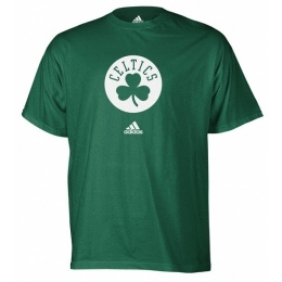 Boston Celtics Green Adidas Cloverleaf T-Shirt (Size Large)
