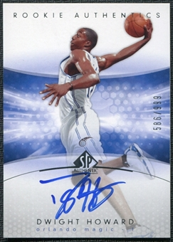 2004/05 SP Authentic #186 Dwight Howard RC Auto Rookie 586/999