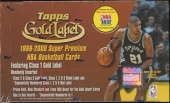 1999/00 Topps Gold Label Basketball Retail 24 Pack Box