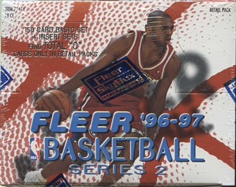 1996/97 Fleer Series 2 Basketball Retail Box