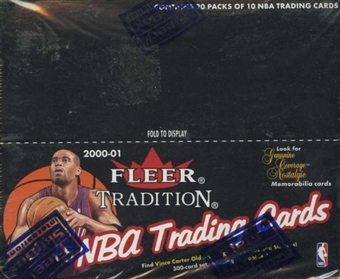 2000/01 Fleer Tradition Basketball Retail 20 Pack Box