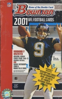 2001 Bowman Football Retail 24 Pack Box