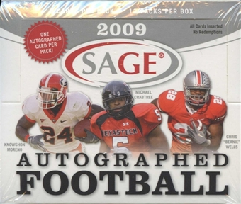 2009 Sage Autographed Football Hobby Box