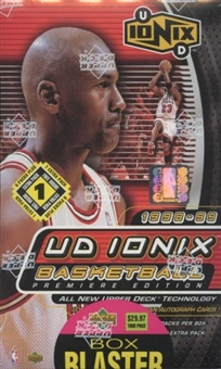 1998/99 Upper Deck Ionix Basketball Blaster 7 Pack Box