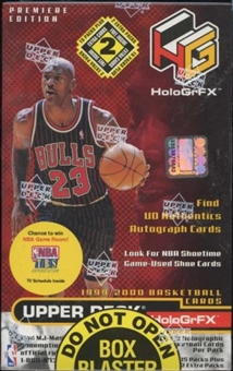 1999/00 Upper Deck Hologrfx Basketball Blaster 17 Pack Box