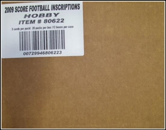 2009 Score Inscriptions Football Hobby 12-Box Case