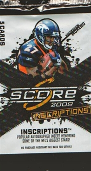 2009 Score Inscriptions Football Hobby Pack