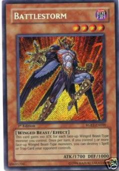 Yu-Gi-Oh Raging Battle Single Battlestorm Secret Rare