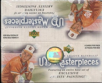 2007 Upper Deck Masterpieces Baseball 24-Pack Box