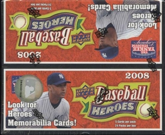 2008 Upper Deck Heroes Baseball 24-Pack Box