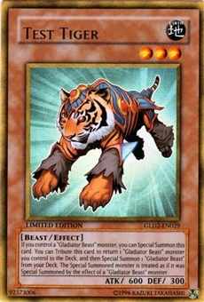 Yu-Gi-Oh Gold Series 2 Single Test Tiger