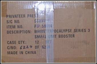 Monsterpocalypse Series 3 All Your Base Unit Booster 12-Pack Case (Privateer Press)