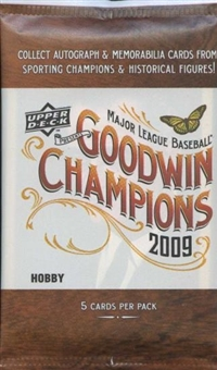 2009 Upper Deck Goodwin Champions Baseball Hobby Pack