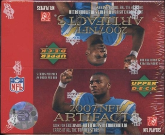 2007 Upper Deck Artifacts Football 24-Pack Box