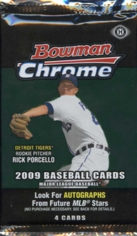 2009 Bowman Chrome Baseball Hobby Pack