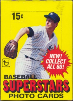 1980 Topps Superstars Photo Cards Baseball Wax Box