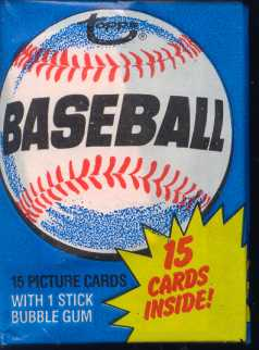 1980 Topps Baseball Wax Pack