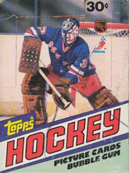 1981/82 Topps Hockey Wax Box