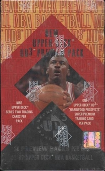 1996/97 Upper Deck UD3 Preview Basketball Box