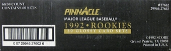 1992 Pinnacle Rookies Baseball Factory 60 Set Case