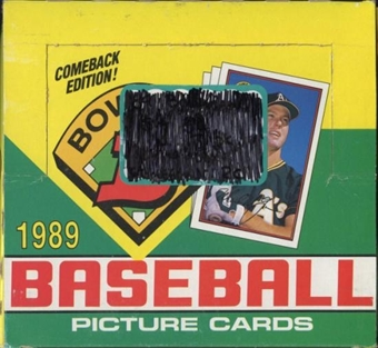 1989 Bowman Baseball Jumbo Box