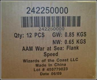 Axis & Allies Miniatures War at Sea Flank Speed Booster Case (12 ct.)